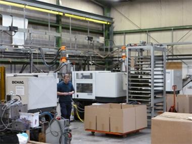 production en serie de pièces plastique